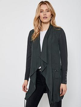 mint-velvet-woven-front-longline-cardigan-khaki