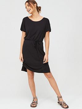V by Very V By Very Short Sleeve Jersey Dress - Black Picture