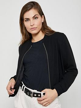 Mint Velvet Mint Velvet Textured Bomber Jacket - Black Picture