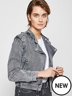 mint-velvet-acid-wash-denim-biker-grey