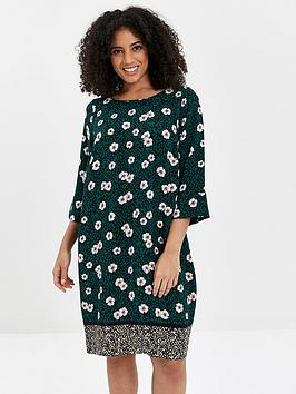 Evans Evans Floral Dress - Green Picture