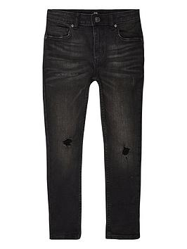 River Island River Island Boys Sid Washed Skinny Jeans - Black Picture