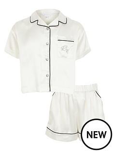 river-island-girls-satin-short-sleeve-pyjama-set-white