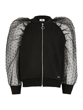 River Island Girls Organza Sleeve Jacket - Black