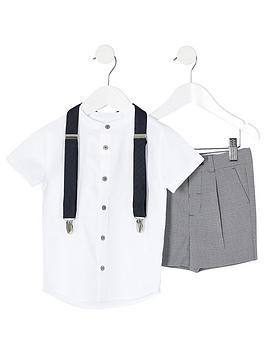 River Island Mini River Island Mini Mini Boys Grandad Shirt &Amp; Short  ... Picture