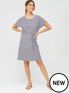 v-by-very-beach-short-sleeve-jersey-midi-dress-stripe