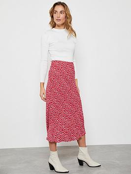 Mint Velvet Mint Velvet Poppy Lips Midi Slip Skirt - Red Picture