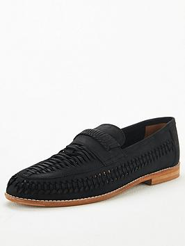 office-chiswick-woven-loafers-black-leather