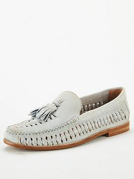 Office Office Clapham Woven Tassle Loafers - Blue Leather Picture