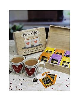 Very Tea For Two - English Tea 6 Compartment Storage Box Picture