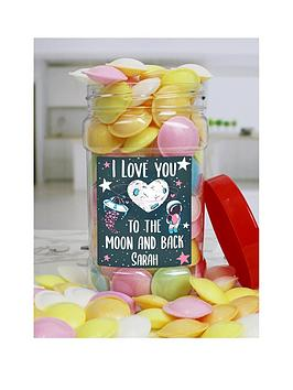 Very I Love You Flying Saucers Sweet Jar Picture