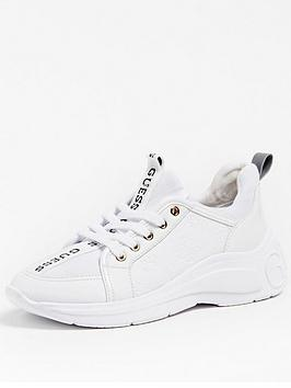 Guess Speerit Logo Tape Trainers - White