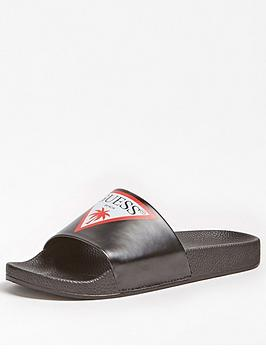 Guess Guess Icon Logo Slides - Black Picture