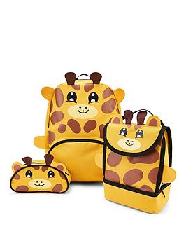 Very Giraffe Backpack, Lunch Bag And Pencil Case Picture