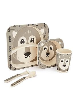 Very Wolf Bamboo Fibre 5-Piece Dinner Set Picture