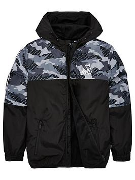 Kings Will Dream  Boys Camo Alfa Windrunner Jacket - Black