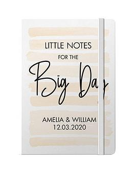 Very Personalised Little Notes For The Big Day A5 Hardback Notebook Picture