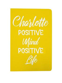 Very Personalised Positive Mind Positive Life Notebook Picture