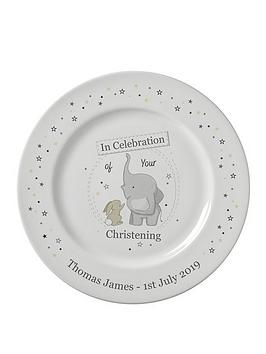 Very Personalised In Celebration Of Your Christening Plate Picture