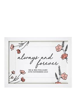 Very Personalised Always & Forever A4 Framed Print Picture
