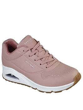 skechers-uno-stand-on-air-trainers-rose