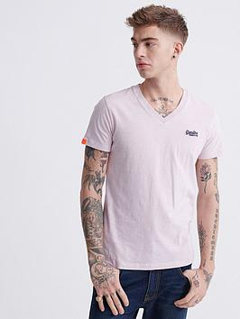 Superdry Superdry Orange Label Vintage Embroidery V-Neck T-Shirt - Pink Picture