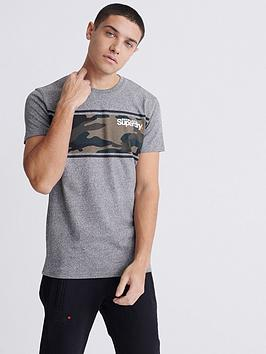 Superdry Superdry Core Logo Camo Strip T-Shirt - Light Grey Picture