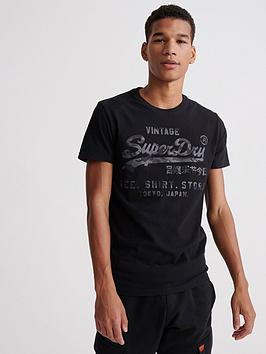 Superdry Superdry Vintage Logo Shirt Shop Bonded T-Shirt - Black Picture