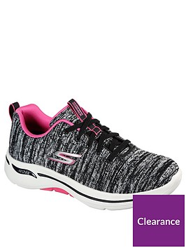 skechers-go-walk-arch-fit-trainer-black-hot-pink