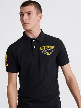 Superdry Superdry Classic Superstate Polo Shirt - Black Picture