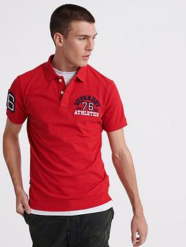 Superdry Superdry Classic Superstate Polo Shirt - Red Picture