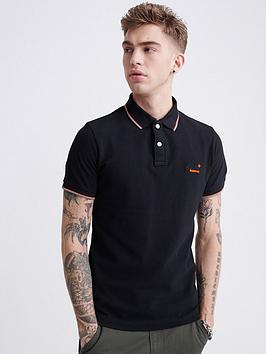 Superdry Superdry Poolside Pique Short Sleeve Polo Shirt - Black Picture