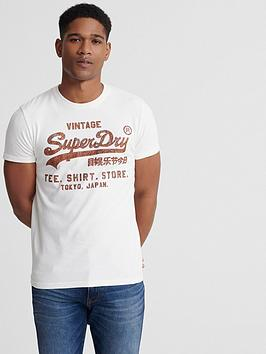Superdry Superdry Vintage Logo Shirt Store Bonded T-Shirt - White Picture