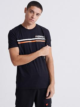 Superdry Superdry Core Logo Sport Strip T-Shirt - Black Picture