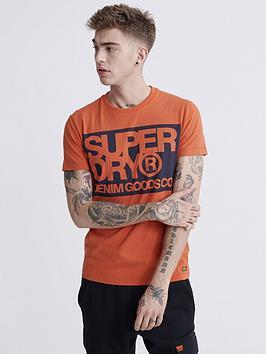 Superdry Superdry Denim Goods Co Print T-Shirt - Orange Picture