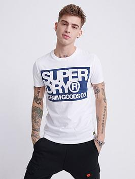 Superdry Superdry Denim Goods Co Print T-Shirt - White Picture