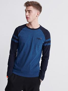 Superdry Superdry Orange Label Softball Ringer T-Shirt - Blue Picture