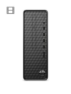 hp-slim-s01-af0001na-intelreg-pentiumreg-j5005-4gb-ram-1tb-hard-drive-desktop-pc-with-optional-microsoft-365-familynbsp1-year-black