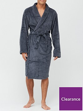 very-man-supersoft-two-tone-dressing-gownnbsp--greyblack