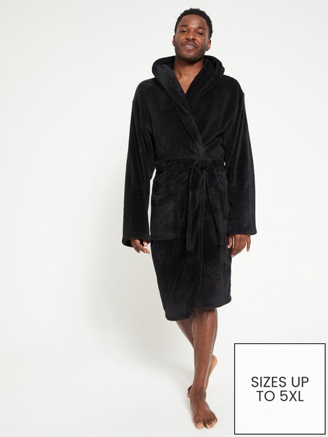 very-man-supersoft-dressing-gown-with-hood-black