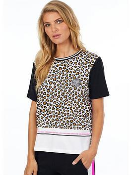 DKNY  Dkny Leopard Print Short Sleeve Top - Leopard