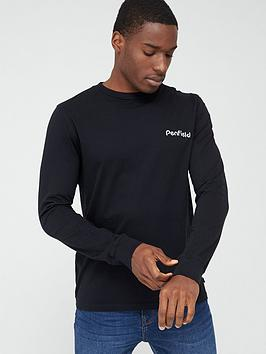 Penfield Penfield Dedham Chest Logo And Back Print Long Sleeve T-Shirt -  ... Picture