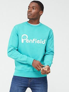 Penfield Penfield Capen Logo Sweatshirt - Teal Picture