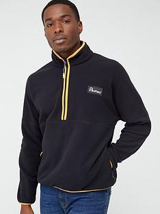 penfield-melwood-14-zip-fleece-black