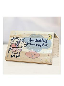 Very Personalised Peppa Pig Memory Box Picture
