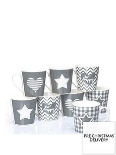 waterside-set-of-8-grey-star-and-heart-mugs