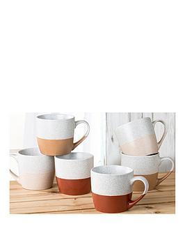 WATERSIDE Waterside Set Of 6 Desert Mugs Picture