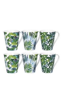 WATERSIDE Waterside Set Of 6 Leaf Mugs Picture