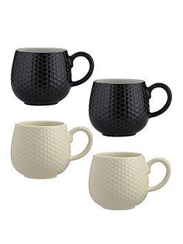 Mason Cash Mason Cash Set Of 4 Embossed Honeycomb Mugs Picture