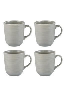 Mason Cash Mason Cash William Mason Set Of 4 Embossed Mugs Picture